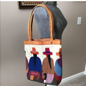 Wool and Leather Market Bag